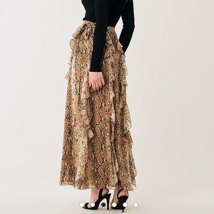 Diane Von Furstenburg Salona silk chiffon skirt